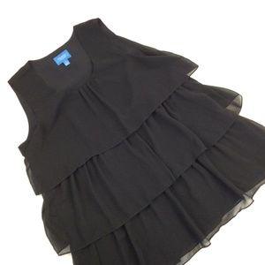 Simply Vera Wang Layered Black Sheer Sleeveless